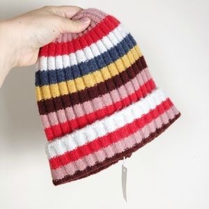 Madewell Women's Striped Beanie Hat
